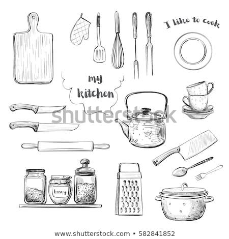 Râpe planche à découper bois cuisine outil Photo stock © cosma