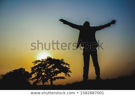 öngyilkos hajlam üzletember közelkép kéz izolált férfi Stock fotó © ocskaymark