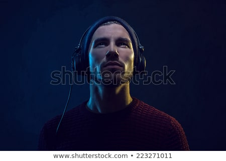 DJ Man with Headphones Stock photo © eyeidea