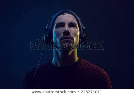 dj man with headphones stock photo © eyeidea