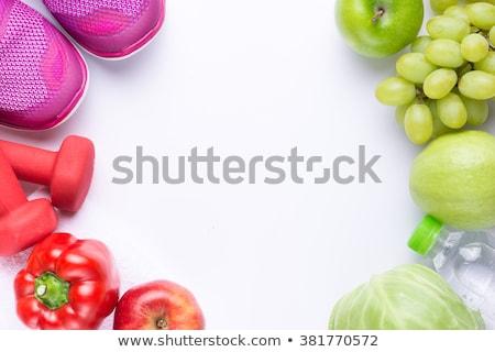 赤いリンゴ · 孤立した · 白 · スポーツ · フィットネス - ストックフォト © natika