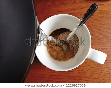 Beker espresso water koffie Stockfoto © ElinaManninen