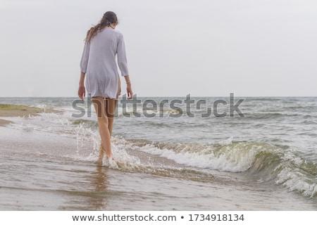 Női hát gyönyörű nő izolált fehér út Stock fotó © ssuaphoto