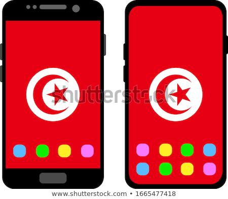 Bandera Túnez teléfono teléfono móviles Foto stock © vepar5