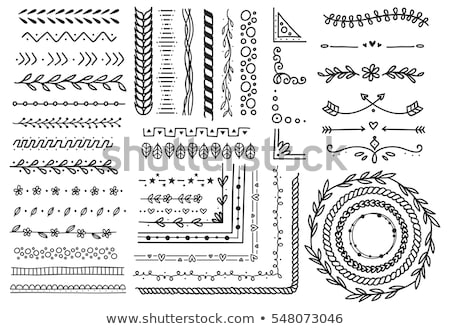 Set of flower borders, floral elements  Stock photo © elenapro