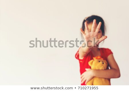 Stoppen misbruik man tekst strijd alle Stockfoto © nito