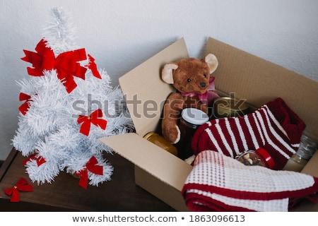 благотворительность · олово · красный · белый · окна · наличных - Сток-фото © devon