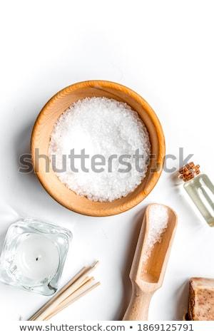Salt in a spoon Stock photo © raphotos
