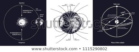 clip · art · afbeelding · Blauw · wereldbol · cartoon · vector - stockfoto © mr_vector