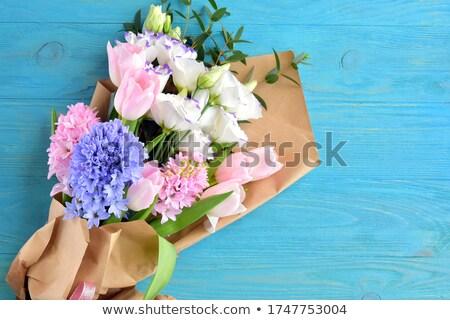 Buket mor leylak rengi çiçekler mor Stok fotoğraf © neirfy