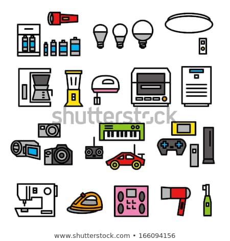 игрушку электрических смеситель изолированный белый Сток-фото © gemenacom