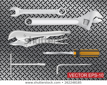 wrench jaw spanner tools stock photo © stevanovicigor
