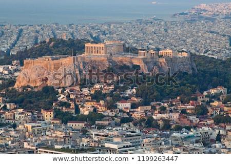 Partenon · Acrópole · cidade · Atenas · azul · pedra - foto stock © andreykr