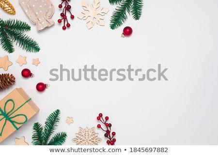 Noel cam boncuk dekorasyon iki dekoratif Stok fotoğraf © jeliva