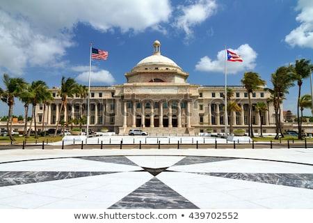 Puerto Rico épület San Juan ház építészet Karib Stock fotó © FER737NG