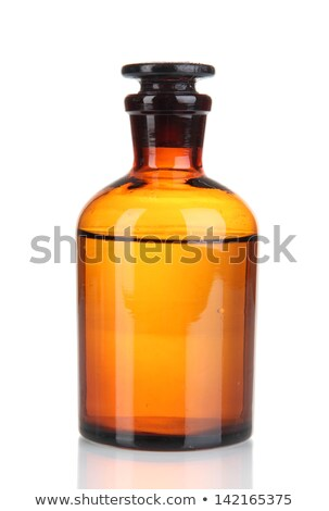 アンティーク · ボトル · 霊 · 孤立した · 白 · バー - ストックフォト © hofmeester