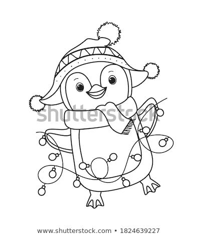 Christmas Colored Line Icons Stock photo © AnatolyM