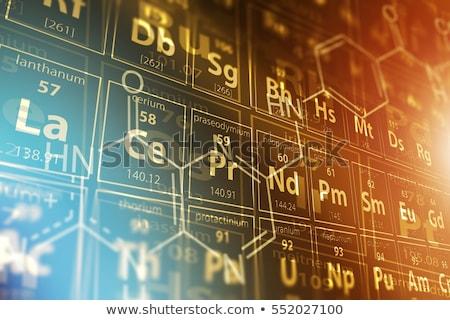 Periódusos rendszer alkotóelem titán technológia oktatás labor Stock fotó © m_pavlov