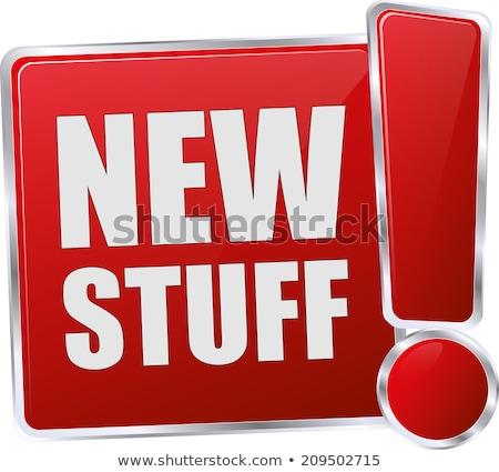 Nieuwe aankomst glanzend vector Stockfoto © rizwanali3d