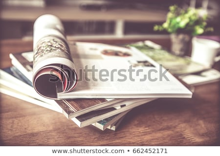 stack of magazines on the table stock photo © mizar_21984