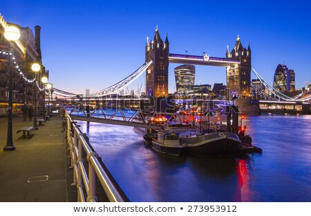 view of tower from the thames path in london stock photo © chrisdorney