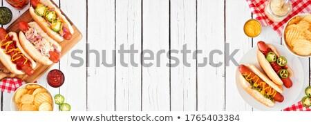 hot dog over white background Stock photo © ozaiachin