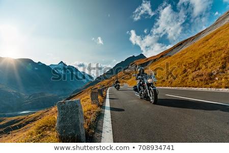 Сток-фото: мотоцикл · человека · верховая · езда · мотоцикле · шоссе