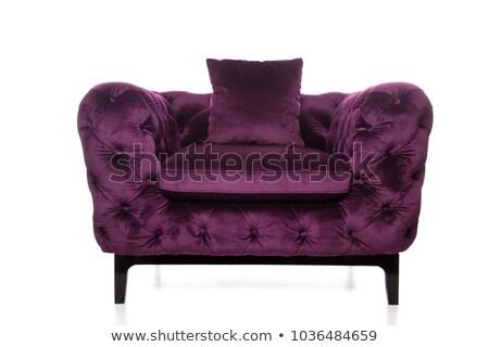 fioletowy · pokój · biały · fotel · 3D - zdjęcia stock © ozaiachin