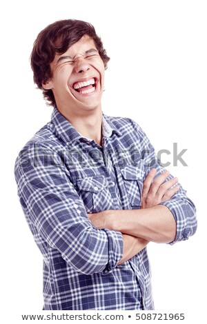 Happy Man with Closed Arms in a Toothy Smile Stock photo © ozgur
