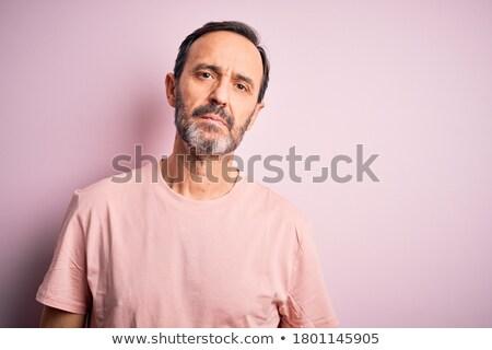 figyelmes · férfi · felfelé · néz · copy · space · fiatalember · áll - stock fotó © ozgur