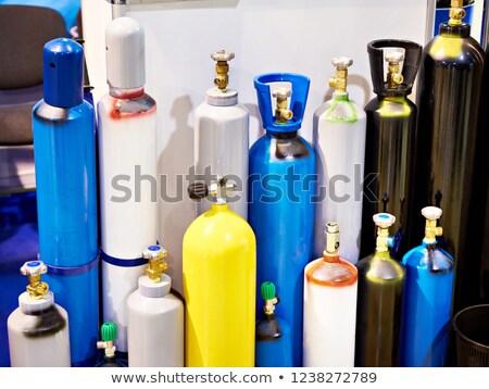 Giallo pressione contenitore sicuro alimentare panna montata Foto d'archivio © JFJacobsz