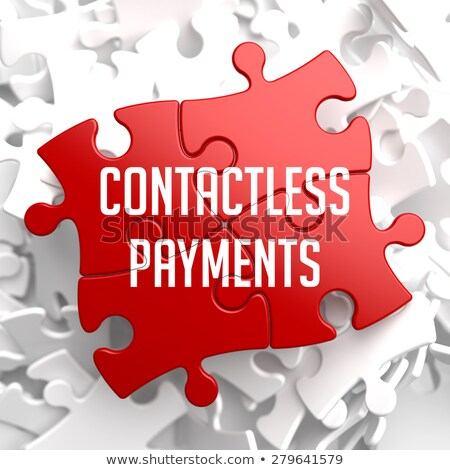 Contactless Payments on Red Puzzle. Stock photo © tashatuvango