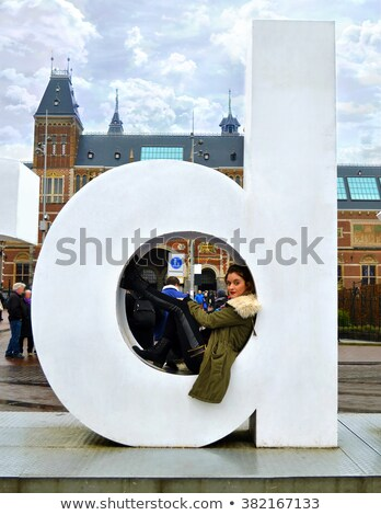 I Amsterdam slogan in front of Rijksmuseum Stock photo © AndreyKr