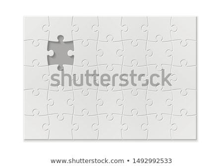 Fun - Jigsaw Puzzle with Missing Pieces. Stock photo © tashatuvango