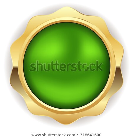warranty guarantee seal green vector button icon design set stock photo © rizwanali3d