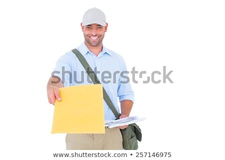 Portret listonosz ramię worek biały Zdjęcia stock © wavebreak_media