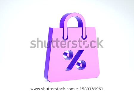 3d woman with golden percent symbol concept Stock photo © nithin_abraham