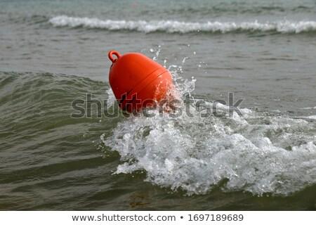 Paisagem bóia água rochas natureza laranja Foto stock © Arrxxx