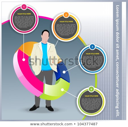 man with circle diagram stock photo © boroda