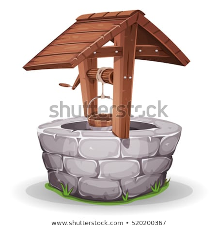 Old Wooden Water Well In Village Stock photo © benchart