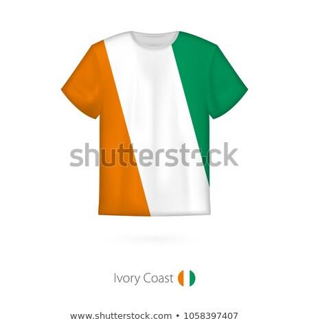 Ivory Coast flag on shirt Stock photo © fuzzbones0