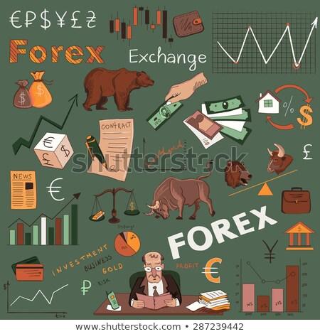 Финансы forex стороны рисунок отлично Сток-фото © netkov1