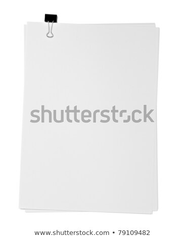 clipboard with blank paper isolated on white stock photo © tetkoren