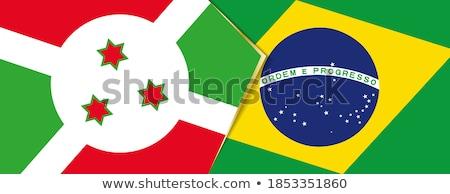Brasil Burundi bandeiras quebra-cabeça isolado branco Foto stock © Istanbul2009