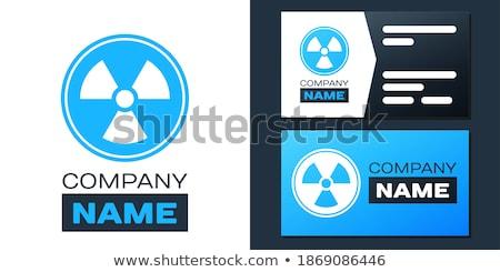 Radioactive Sign Blue Vector Icon Design Stock photo © rizwanali3d