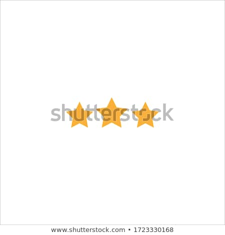 3 Star Golden Vector Icon Button Stock photo © rizwanali3d