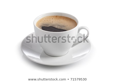 sugar and coffee in white coffee cup isolated on white stock photo © tetkoren