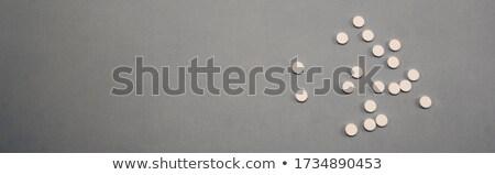 Pijn medische grijs wazig tekst pillen Stockfoto © tashatuvango