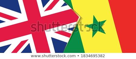 Egyesült Királyság Szenegál zászlók puzzle izolált fehér Stock fotó © Istanbul2009