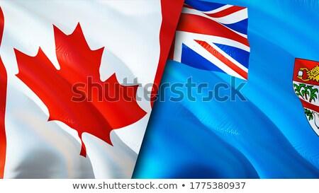 Kanada Fidzsi-szigetek zászlók puzzle izolált fehér Stock fotó © Istanbul2009